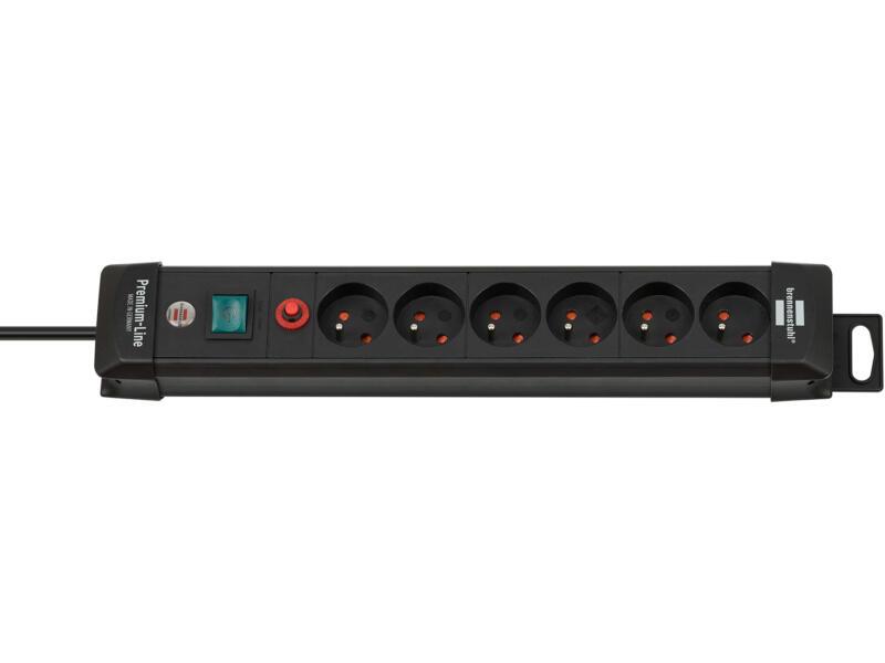 Brennenstuhl Premium-Line stekkerdoos 6x met schakelaar en kabel 3m zwart