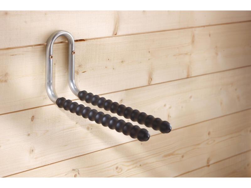 Mottez Pro XXL crochet de rangement double 40cm gainé