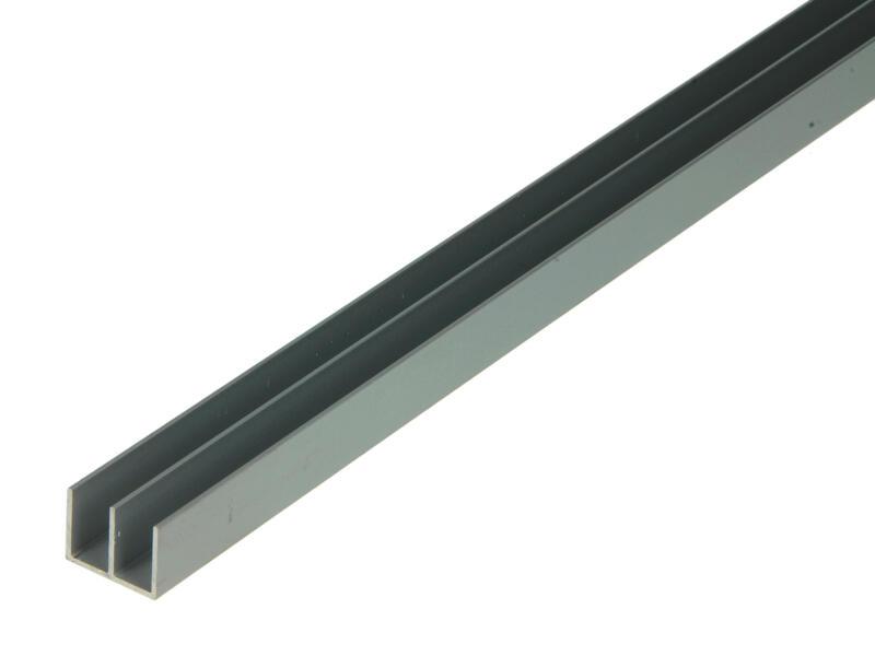 Arcansas Profiel dubbele U 1m 16x12 mm geanodiseerd aluminium mat