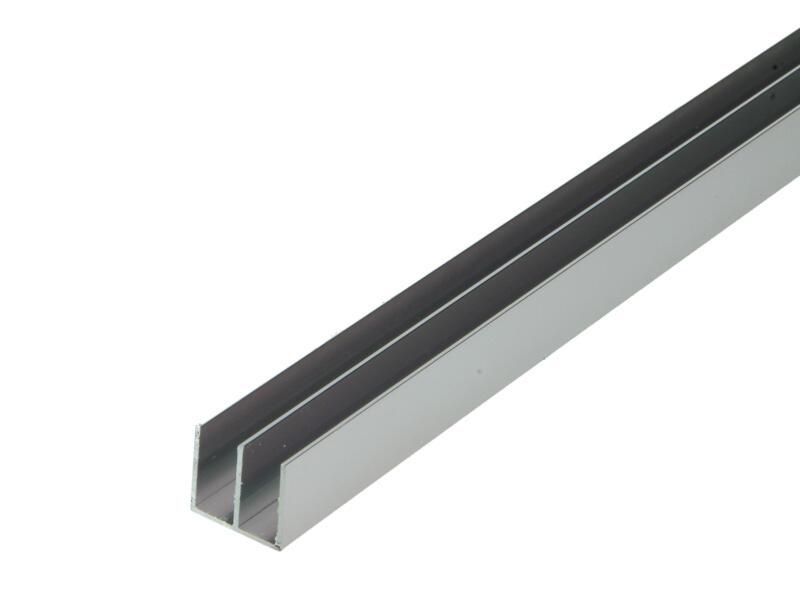 Arcansas Profiel dubbele U 1m 20x18 mm geanodiseerd aluminium blinkend