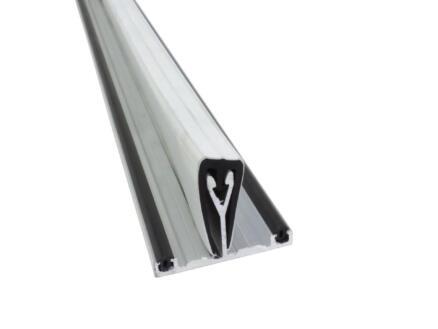 Scala Profiel ligger met rubber 300cm 10mm aluminium wit