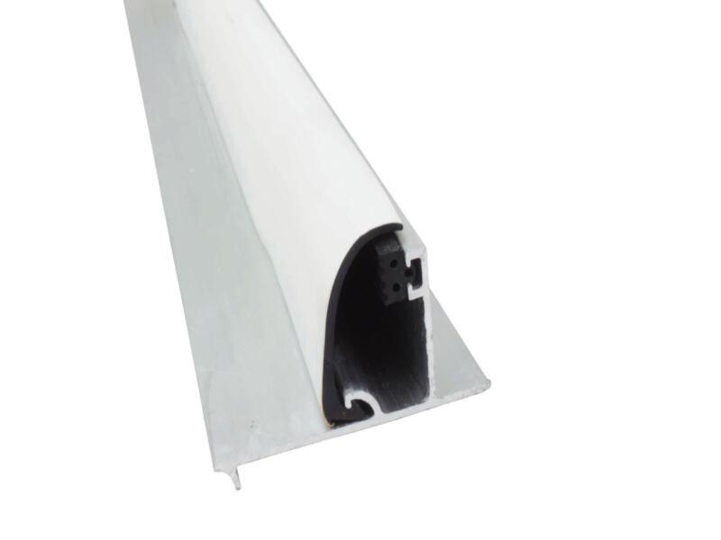Scala Profiel zijkant met rubber 300cm 10mm aluminium wit