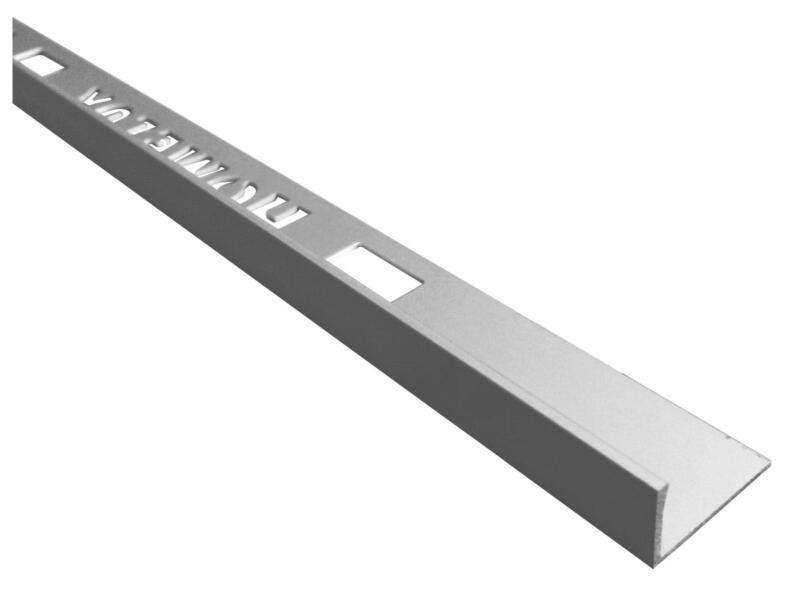 Homelux Profil de carrelage droit 11mm 120cm aluminium mat argenté