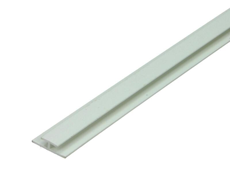 Arcansas Profil en H 1m 2,2x1,1cm PVC blanc