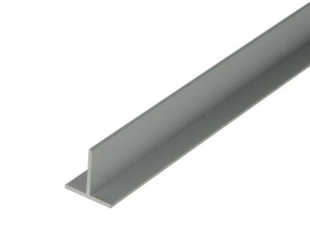 Arcansas Profil en T 2m 20x20 mm aluminium mat anodisé