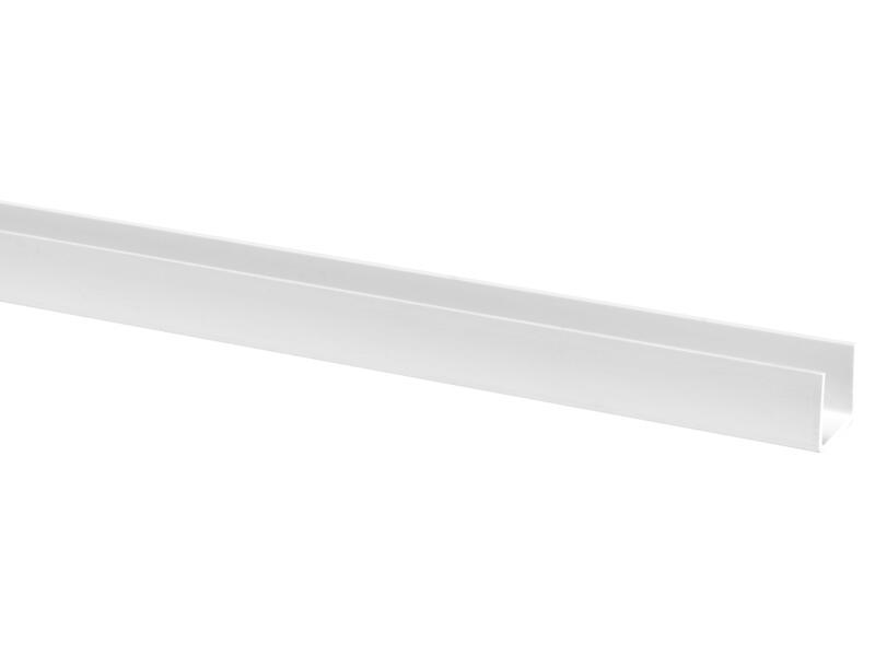 Profil en U 15x12 mm 260cm blanc