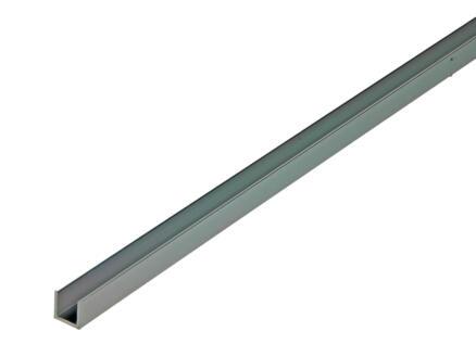 Arcansas Profil en U 1m 10x10 mm aluminium brillant anodisé