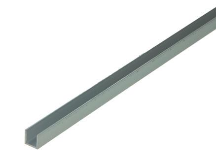 Arcansas Profil en U 1m 10x10 mm aluminium naturel