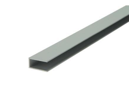 Arcansas Profil en U 1m 10x20 mm aluminium mat anodisé