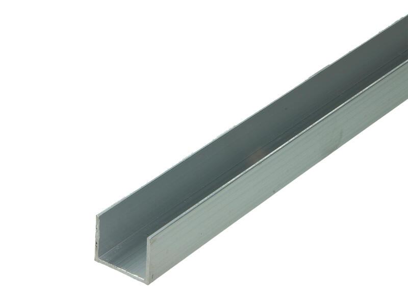 Arcansas Profil en U 1m 25x20 mm aluminium naturel