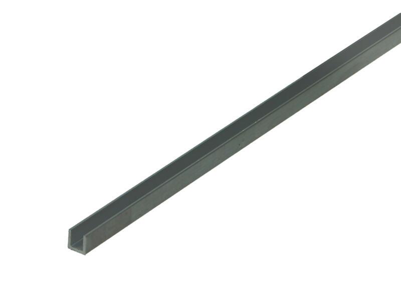 Arcansas Profil en U 1m 6x6 mm aluminium naturel