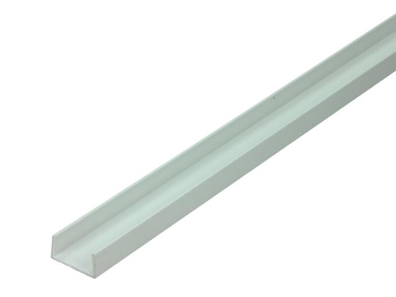 Arcansas Profil en U 2m 10x21 mm PVC blanc