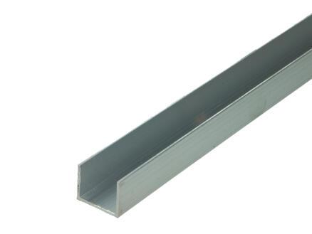 Arcansas Profil en U 2m 20x25 mm aluminium naturel