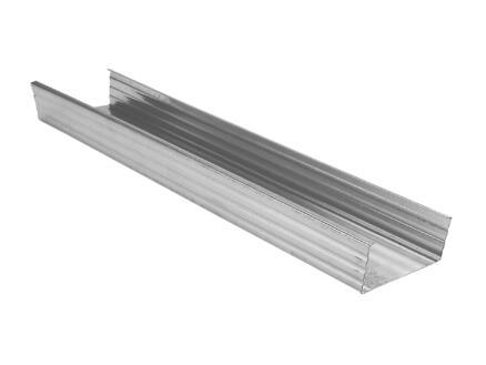 Profil en U MSV 2,6m 50x50 mm acier