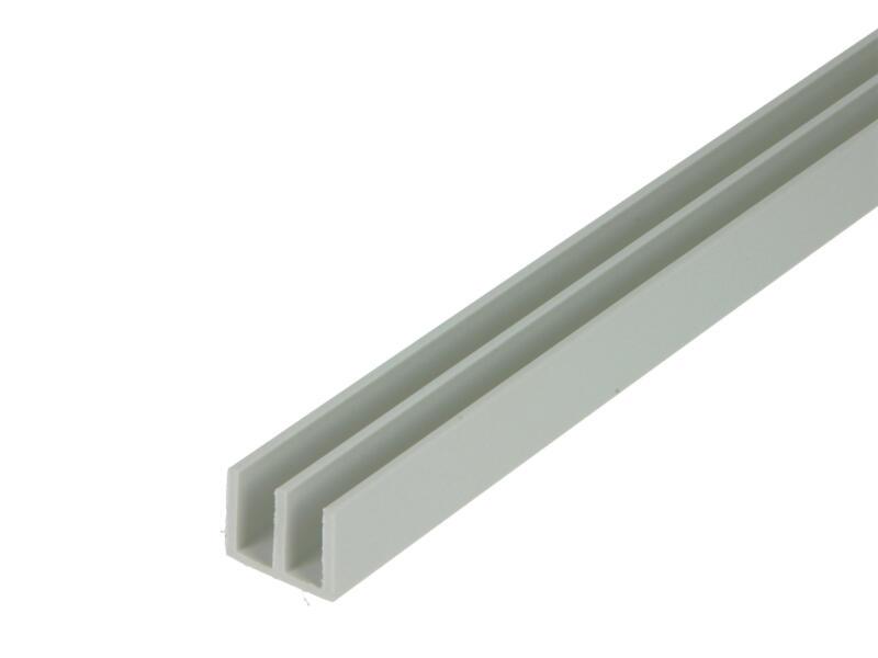 Arcansas Profil en U double 1m 19x15 mm PVC blanc