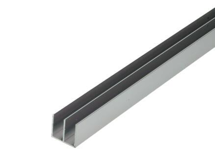 Arcansas Profil en U double 1m 20x18 mm aluminium brillant anodisé