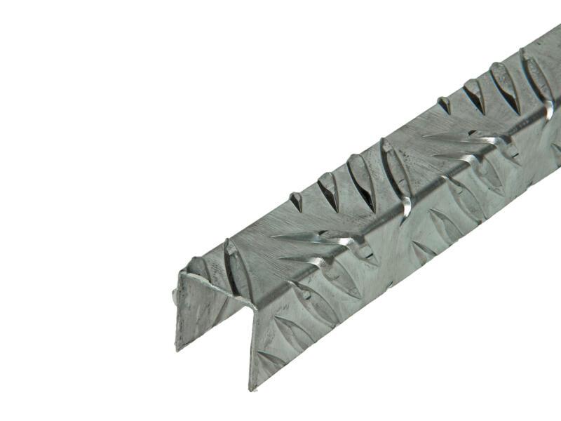 Arcansas Profil en U grain de riz 1m 22x22 mm aluminium naturel