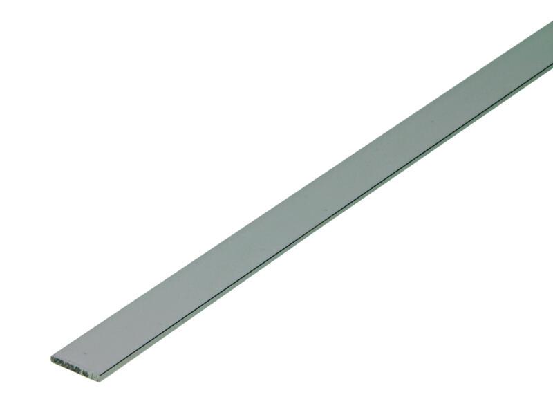 Arcansas Profil plat 1m 15mm 2mm aluminium brillant anodisé