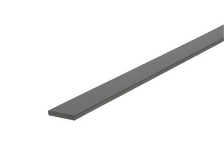 Arcansas Profil plat 1m 17mm 3mm PVC blanc
