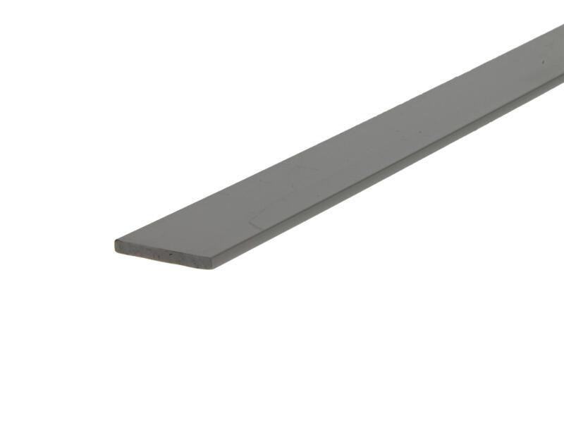 Arcansas Profil plat 1m 24mm 3mm PVC blanc