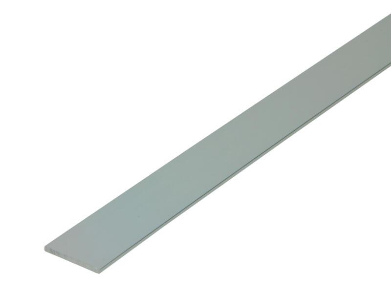Arcansas Profil plat 1m 25mm 2mm aluminium brillant anodisé