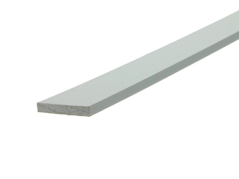 Arcansas Profil plat 1m 30mm 5mm PVC blanc