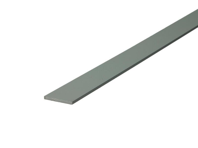 Arcansas Profil plat 2m 20mm 2mm aluminium mat anodisé
