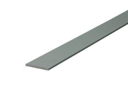 Arcansas Profil plat 2m 25mm 2mm aluminium mat anodisé