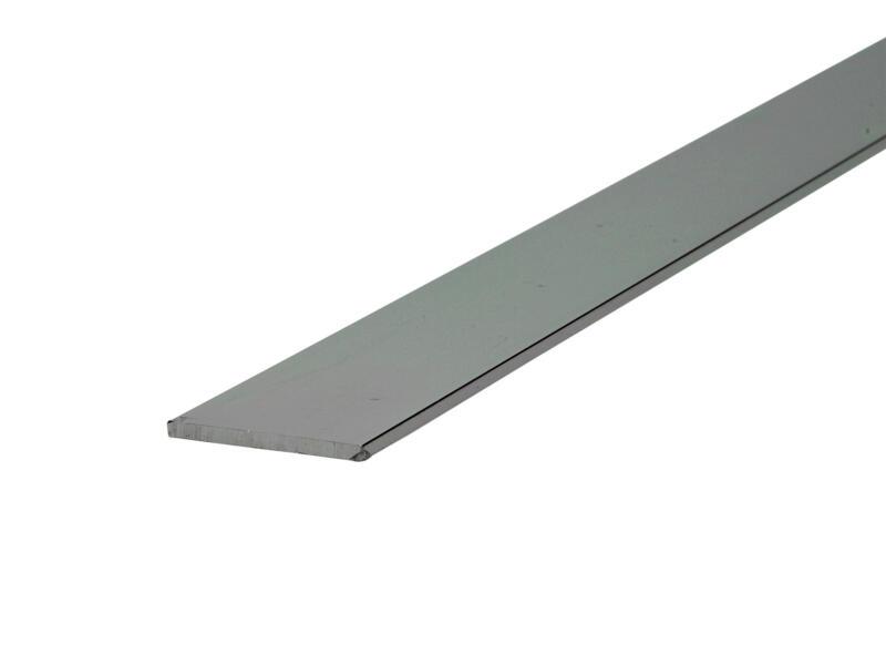 Arcansas Profil plat 2m 30mm 2mm aluminium brillant anodisé