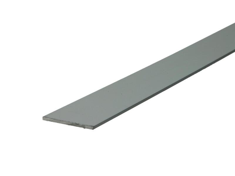 Arcansas Profil plat 2m 30mm 2mm aluminium mat anodisé
