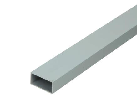 Arcansas Profil tube rectangle 1m 30x15 mm aluminium mat anodisé