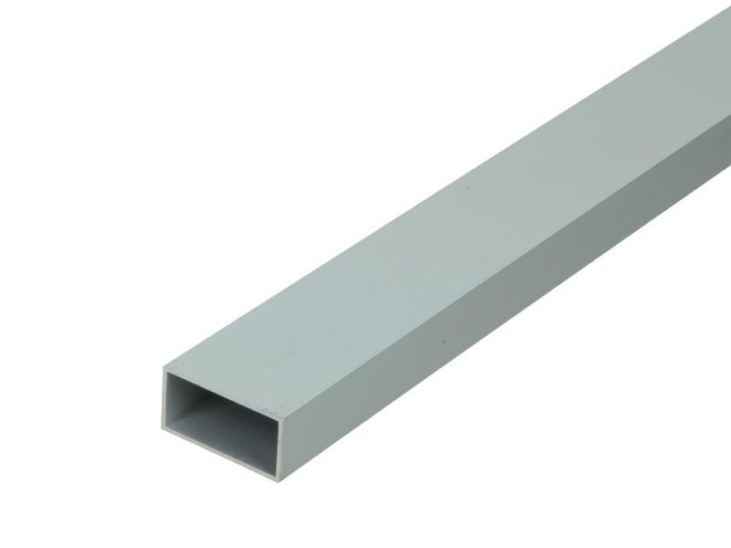 Arcansas Profil tube rectangle 2m 30x15 mm aluminium mat anodisé