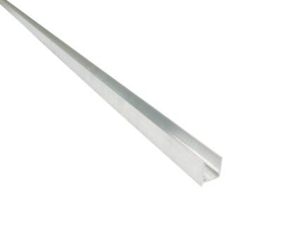 Scala Profilé d'embout pour plaques en polycarbonate 210cm 10mm aluminium