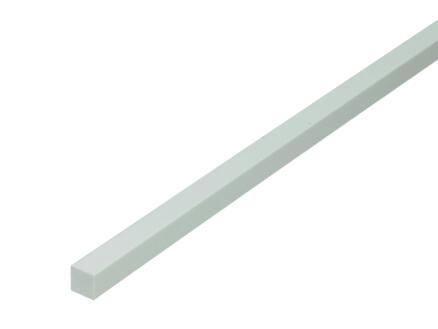 Arcansas Profilé plein carré 1m 10x10 mm PVC blanc