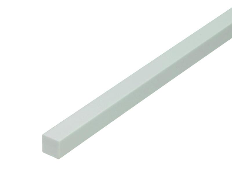 Arcansas Profilé plein carré 1m 15x15 mm PVC blanc