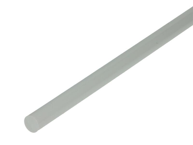 Arcansas Profilé plein rond 1m 10mm PVC blanc