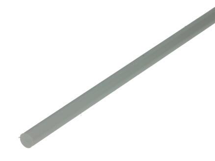 Arcansas Profilé plein rond 1m 8mm PVC blanc