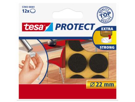 Tesa Protect patin feutre 22mm brun 12 pièces