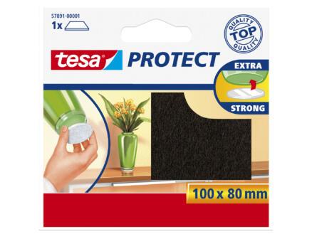 Tesa Protect viltglijder 100x80 mm bruin