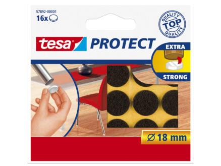 Tesa Protect viltglijder 18mm bruin 16 stuks