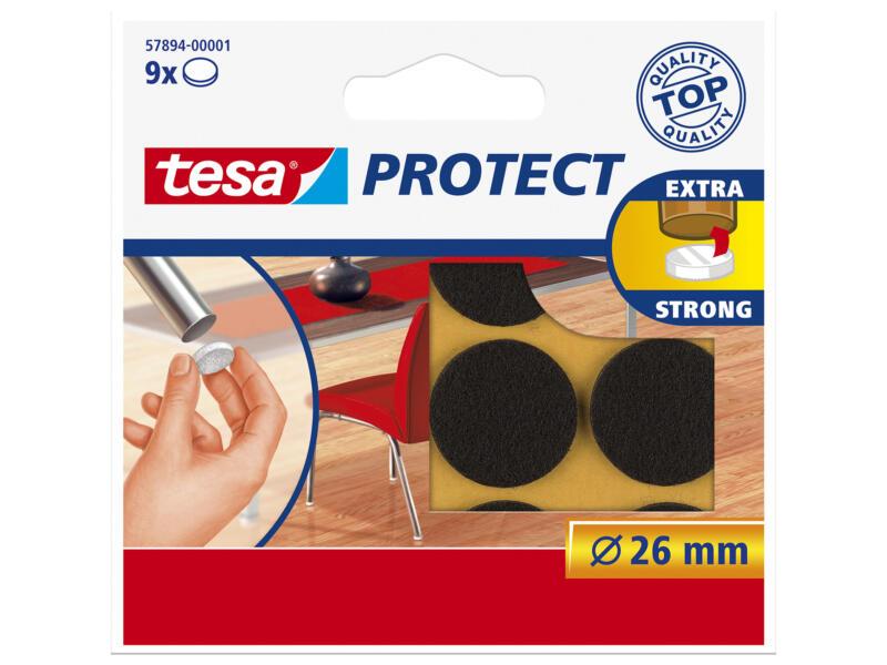 Tesa Protect viltglijder 26mm bruin 9 stuks