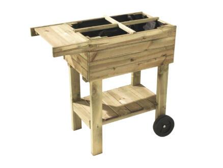 Prunella kweektafel hout 80x40x78