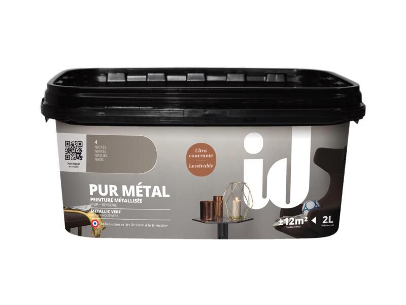 Pur Métal muurverf metallic 2l nikkel
