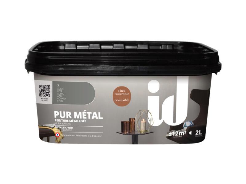Pur Métal peinture murale métallisée 2l acier