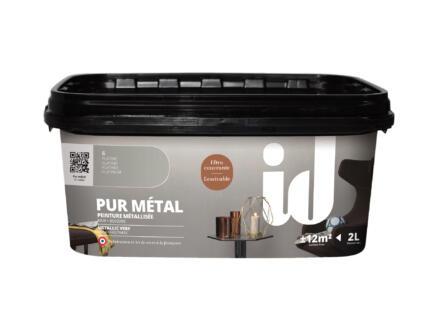 Pur Métal peinture murale métallisée 2l platine