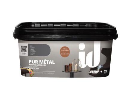 Pur Métal peinture murale métallisée 2l plomb