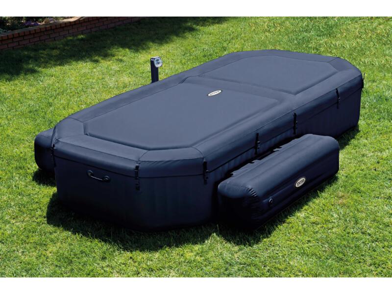 intex pure spa bubble jacuzzi 386x183 cm 4 personnes. Black Bedroom Furniture Sets. Home Design Ideas