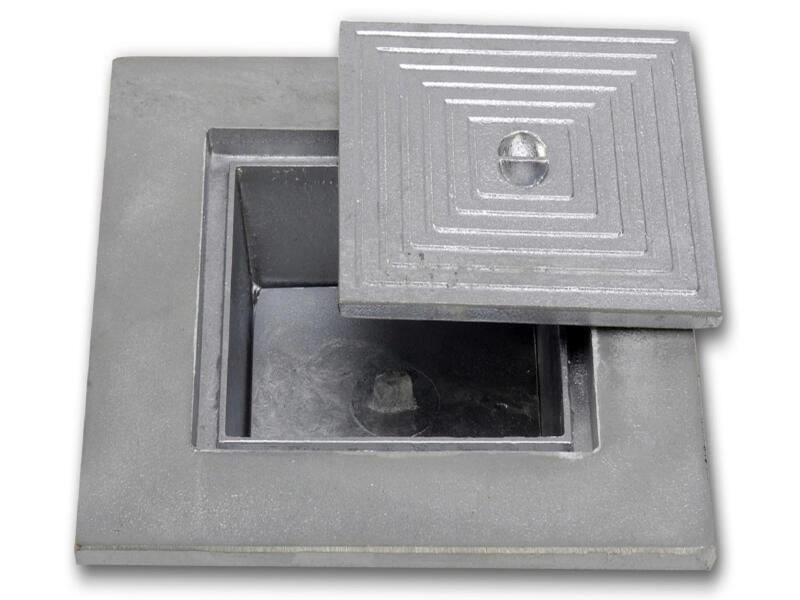 Putdeksel dubbel 30x30 cm aluminium