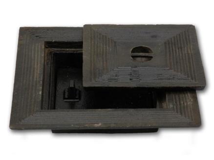 Putdeksel dubbel 30x30 cm gietijzer