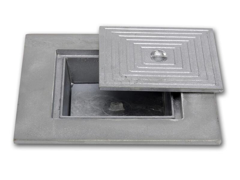 Putdeksel dubbel 40x40 cm aluminium